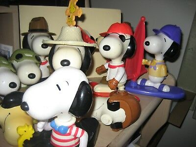 Collection of  more than 10 McDonalds Snoopy Characters plus bits