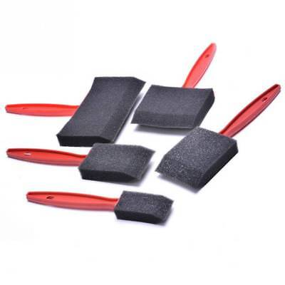 5pcs/set Black Foam Brush Sponge Plastic Handle Art Craft Painting 5 sizes/bag