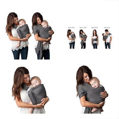 Kids N Such Baby Wrap 4 In 1 Grey Machine Washable One Size Fits All