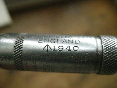 WW2 1940 Military (Crows Foot) Moore And Wright No966  Micrometer