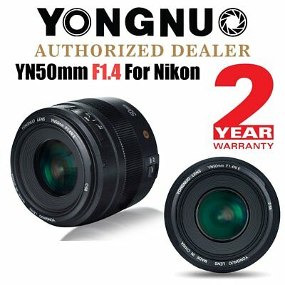 Yongnuo YN 50mm F1.4 Auto Focus Large Aperture Fixed Prime Lens for Nikon UK
