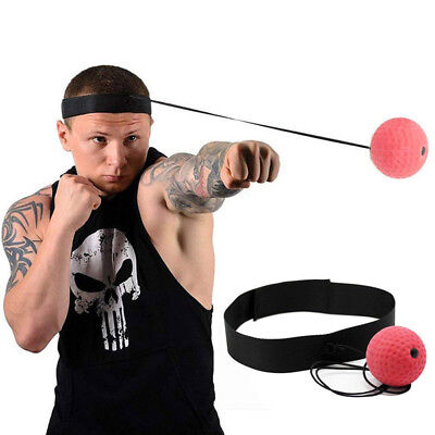 Boxing Punch Exercise Fight Ball With Head Band For Reflex Speed Training AU