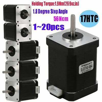 LOT 1~20PCS Nema 17 Stepper motor 1.9Nm (269oz.in) 56cNm  CNC DIY 3D Printers GK