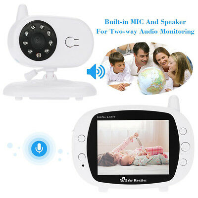 3.5'' Remote Wireless Video Baby Monitor Digital Camera Vision Safety Viewer TOP