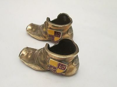 A Pair of Brass Match Holders / Strikes - Stapleford Park - Boots