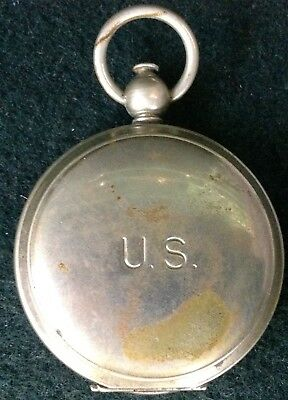 Vintage WW2 Era Wittnauer Pocket Compass US Military Flat Needle