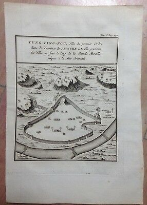 China The Great Wall Yung Ping Fou 1750 By Bellin Antique Copper Engraved Map