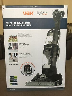 Vax Carpet Cleaner Platinum Power Max model ECB1SPV1