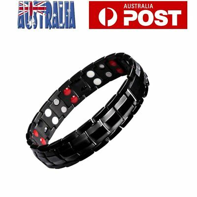 Magnetic Health Bracelet Carpal Tunnel Arthritis Bio Therapy Pain Relief Row AU