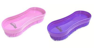 Set of 2 x Stable Kit Brushes Magic Brush In Pink & Purple Horse Pony Equestrian