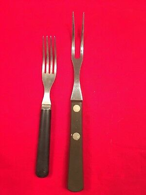 "Vintage Case XX 20 Carving Meat Fork 9.5"" plus old Bakelite/stainless fork"