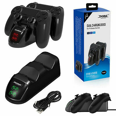 Dobe Playstation 4 Controller LED Dual Charger Station Charging Stand Dock Stand