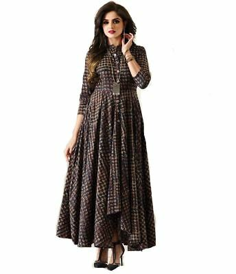 Women's Rayon Printed Gown Style Kurti S54