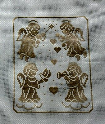 angels completed cross stitch