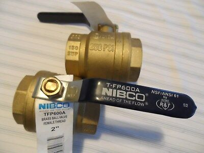 "Nibco FP600A -- lot of 2 -- FPT 2"" - New Old Stock - Two Ball Valves - Free Ship"