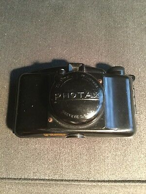 Vintage camera. French 1930 Photax camera. Rare Bakelite camera.