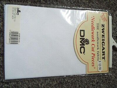 DMC 16 Count Aida - 28 x 43 cm - White - NEW UNOPENED