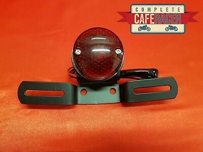 (L24) Cafe Racer Rear Light Red Stop Tail & Number Plate Light