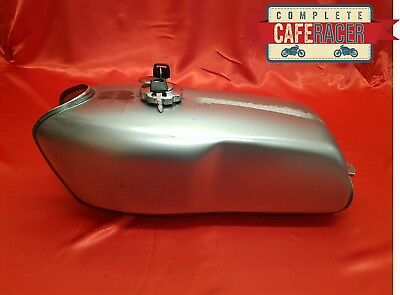 (Crt3) Cafe Racer Style Fuel Tank / Petrol Tank, Cap And Tap With Key