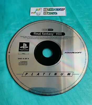 PS1 FINAL FANTASY VIII 8 - Sony Playstation 1 Game - 4 CDs