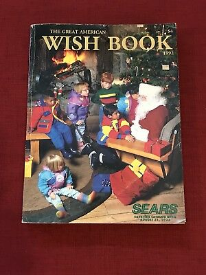 Vintage 1992 Sears Christmas WISH BOOK Catalog TOYS Bikes Bras Fashions