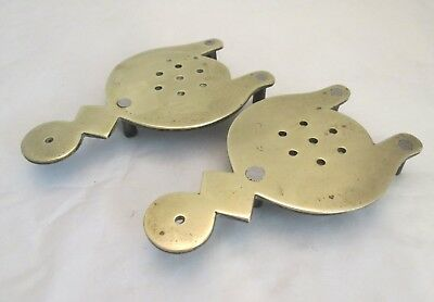 A Pair of 19th Century Brass Trivets - Unusual Design - Kitchenalia / Fireside