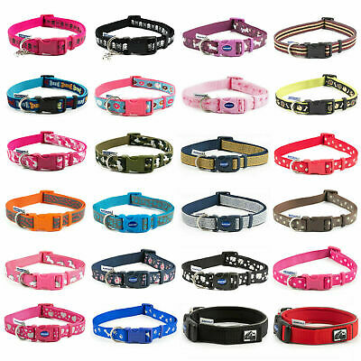 Dog Puppy Collars Ancol Combat Skull Crossbones Paw Prints Unicorn 3 Sizes S/M/L