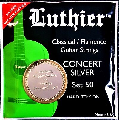 Luthier Classical/ Flamenco Guitar Strings 1 set, #50. Carbon Trebles