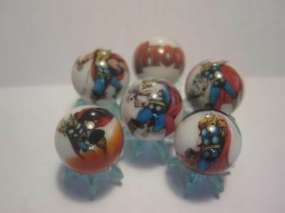 THOR glass marbles 5/8 size + stands
