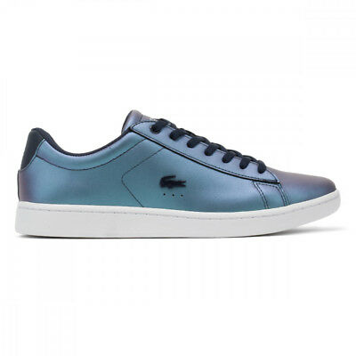 34e13f197242 LACOSTE CARNABY EVO 318 2 SPJ GS Trainers in Metallic Pink   Silver ...