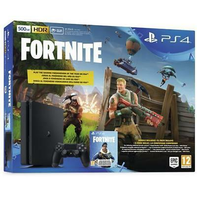 SONY Console Playstation 4 PS4 500 Gb E Slim + Fortnite Voucher limited bundle