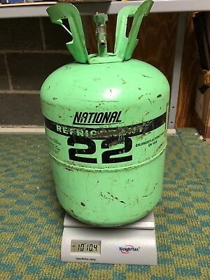 National R-22 10 LB 10 OZ Virgin Freon R22 Refrigerant  Contents and Tank Weight