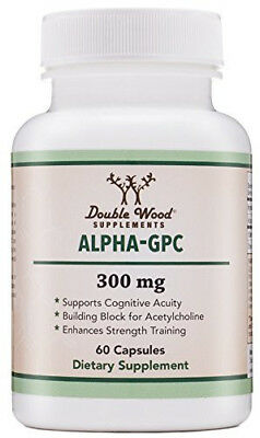 Alpha GPC Choline Supplement, Made in USA (60 Capsules 300 mg)