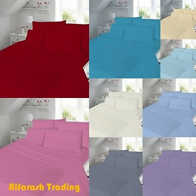 """Percale T180 Extra Deep 16"""" Fitted Flat Sheet Single Double Super King 40cm SALE"""