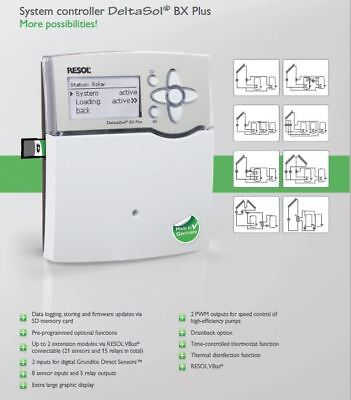 Made in Germany, Solar Hot Water Controller -RESOL DeltaSol BX PLUS & 5 sensors