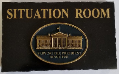 "BLACK MARBLE DESK 3""X5"" PLAQUE POTUS White House SITUATION ROOM Since 1961"