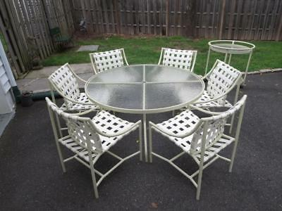 "VTG 11-Piece Tropitone ""Skoros"" Patio Set Table / Chairs 1970s Brown Jordan Dgn"