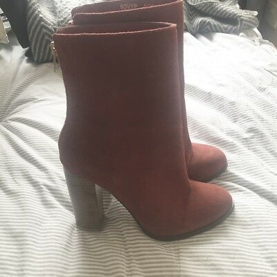 red ankle boots size 5