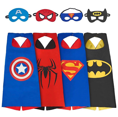 1 Cape&1 Mask& Cape For Kid Birthday Party Favors And Ideas Kids Superhero Cape