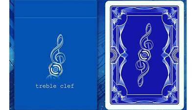 Treble clef blue playing cards. New sealed deck. Only 1000