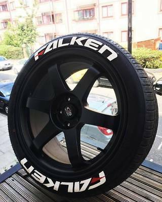 "Permanent Tire Stickers-FALKEN -1."" 17""18""19""20 Wheels  8 Decal Kit"