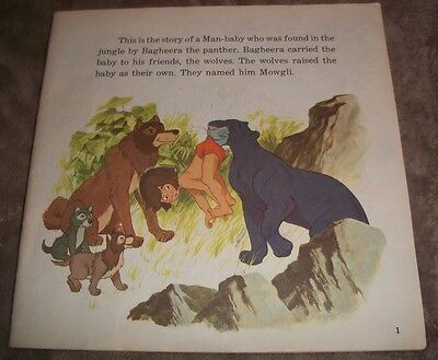 1967 Jungle Book 33 1/3  long playing record 24 page book #319