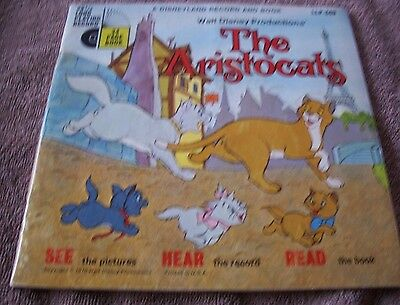 1970 The Aristocats 33 1/3 long playing record 24 page book #LLP-349