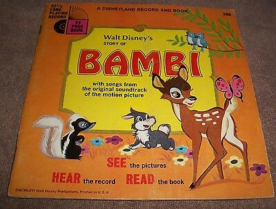 1966 Bambi 33 1/3  long playing record 24 page book #309