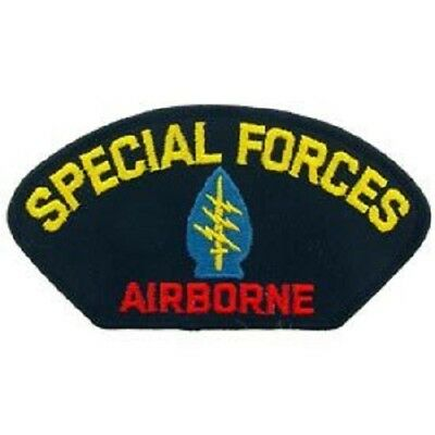 "NORTHERN SAFARI™ Special Forces A/B Iron On Hat Patch - Approx 2.75""H x 5.25""W"