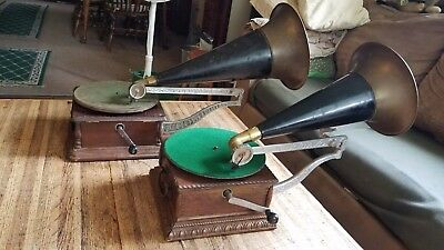 """""""aj"""" Columbia Phonographs Second And Third Style !!!"""