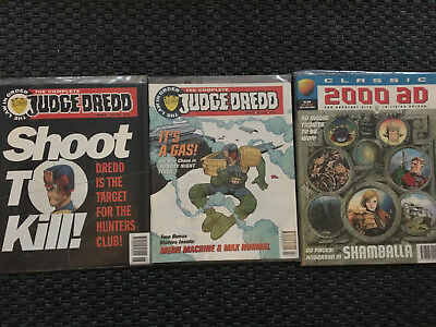 The Complete Judge Dredd 41-42 (2000ad) bagged + Judge Anderson's Shamballa
