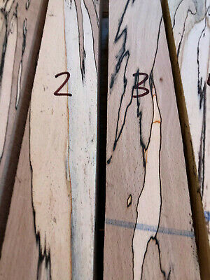 Spalted beech knife scale blocks / carving blocks 160 x 70 x 28mm STRONG SPALT
