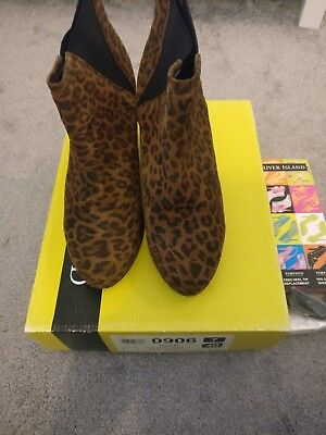 River Island Leopard Boots Size 7