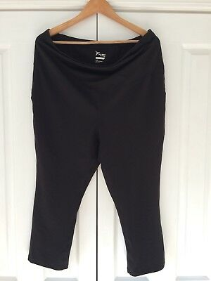 Women's maternity gym athletic pants size XL / 16-18 Black
